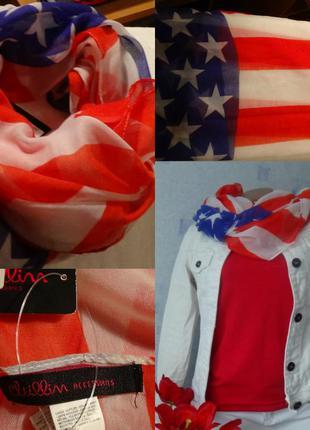 Шарф платок американский флаг