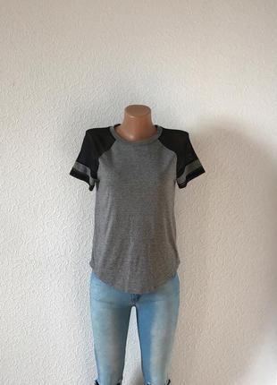 Sale! брендовая футболка с рукавами в сетку xs