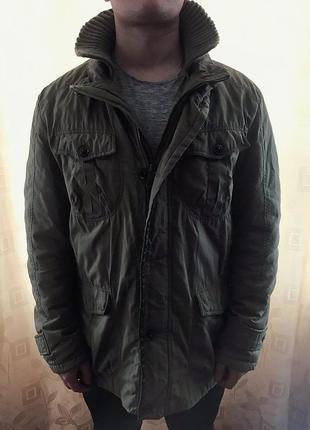 Sale! утеплённая демисезонная мужская куртка colin's, парка colin's, xl-xxl