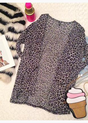 Леопардовый кардиган h&m