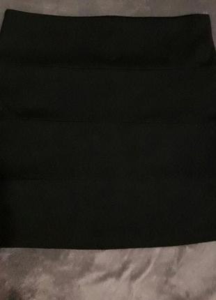 Бандажная черная классическая юбка