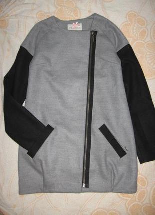 Стильное драповое демисезонное пальтишко/косуха chillin