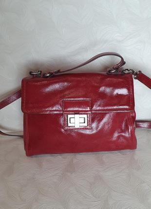 Лаковая кожаная сумка funbag