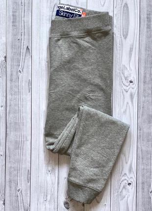 Женские спортивные штаны superdry серые спортивки