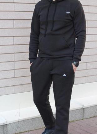 Трикотажный спортивный костюм adidas originals (черный)