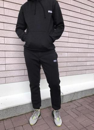 Трикотажный спортивный костюм fila (черный)