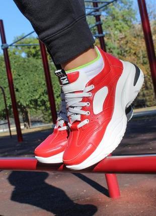 Кожаные женские кроссовки на осень, с 36 по 41 размер