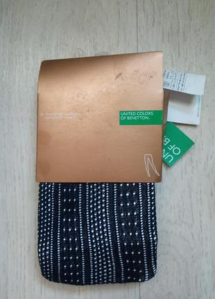 Ажурные колготки united colors of beneton сток италия на рост 165-180 вес 60-75 кг