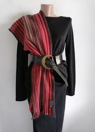 👜шерстяной полосатый шарф в стиле missoni 👜тёплый шарф в полоску из шерсти ягнят