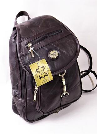 Небольшой женский кожаный рюкзак spiess коричневый германия