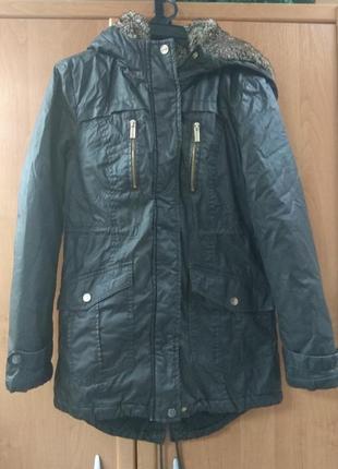 Куртка парка с пропиткой с мехом хаки atmosphere 8(36)