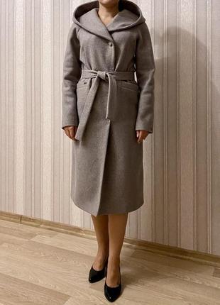 Классические прямое длинное тёплое осеннее демисезонное зимнее пальто шерсть италия