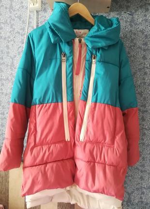 Пуховик парка куртка курточка зимняя дутик