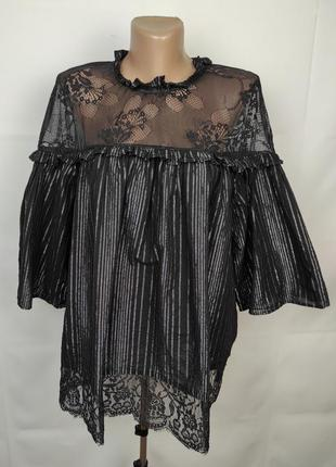 Блуза шикарная нарядная большого размера marks&spencer uk 18/46/xxl