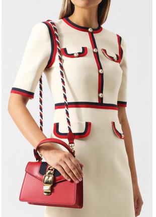 Шикарная красная сумочка кросс-боди, классическая сумка элегантная через плечо