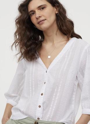 Блуза рубашка h&m на пуговичках