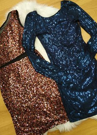 Нарядные платье в паетки /xs,s