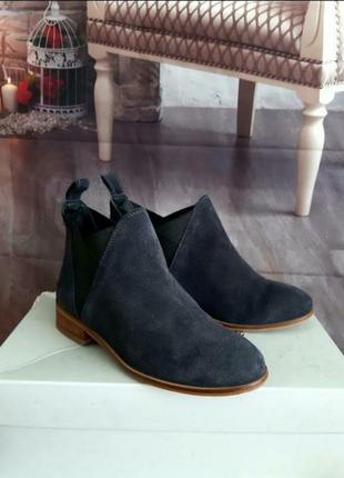Идеальные ботинки дезерты натуральный замш синие