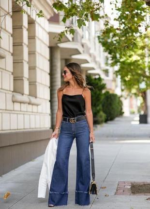 Трендовые широкие джинсы /джинсы-трубы, размер 26