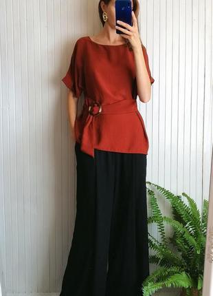Стильные очень широкие брюки h&m палаццо штаны-юбка
