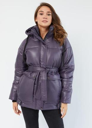 Куртка зимняя женская оверсайз свободная