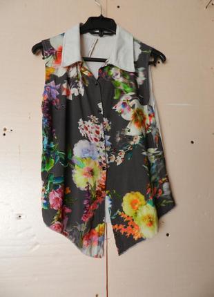 Рубашка блуза трикотаж