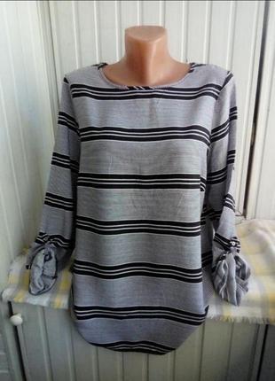Вискозная блуза большого размера