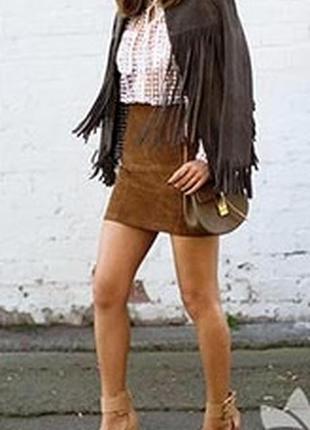 Натуральная,мягкая,  кожаная юбка, next, 12 размер