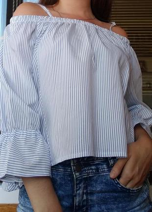 Рубашка блуза с плеч