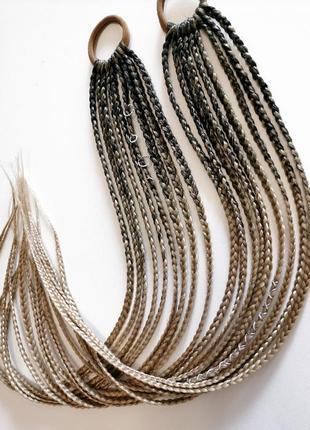 Афрорезинка афрокосички косички на резинке резинка с косичками канекалон