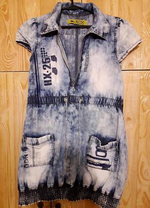 Джинсовое стильное платье