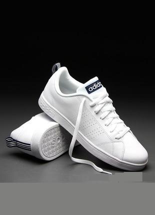 Белые кроссовки adidas adwantage clean vs 22.5 см