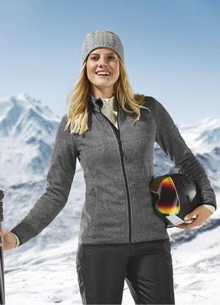 Флисовая кофта- курточка crivit германия размер xs 32-34 наш 40-42