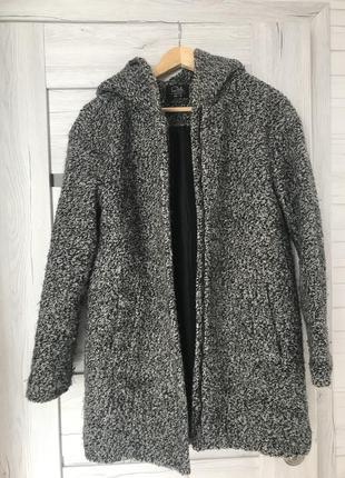 Пальто куртка с капишоне ам верхнее одежда серое