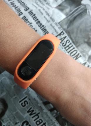 Часы наручные женские мужские унисекс силиконовые электронные оранжевые годинник