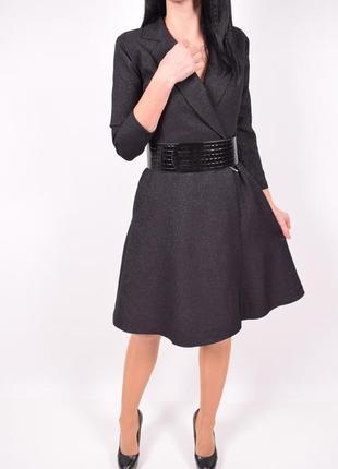 Шикарное платье с поясом esito с люрексовой нитью