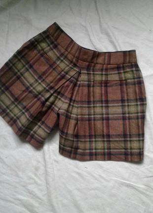 Шерстяная юбка -шорты