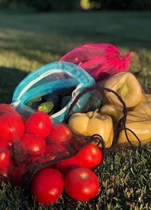 Экомешочки экошопер екоторбинки авоська фруктовки мешочки для продуктов