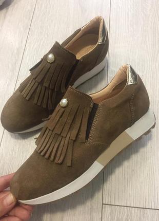 Туфли с бахромой замша 37р