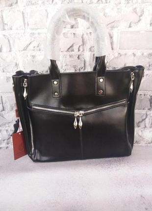 Женская большая кожаная сумка из натуральной кожи жіноча шкіряна