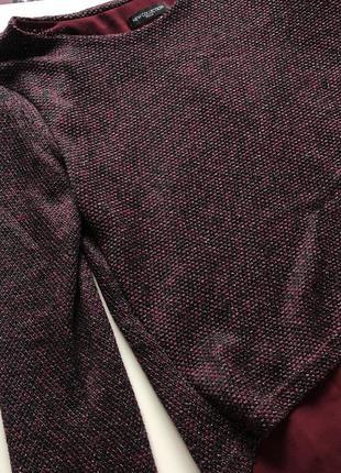 Бордовая кофта с шифоном размер s/m