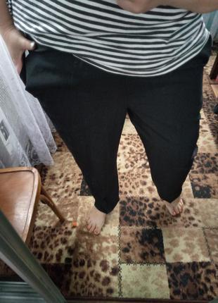 Чорні штани на резинці
