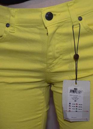 Коттоновые  штаны ярко-желтого цвета от object collectors item (турция)