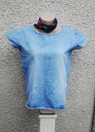Джинсовая винтажная  футболка,рубашка,блуза из плотного джинса. jack & jones