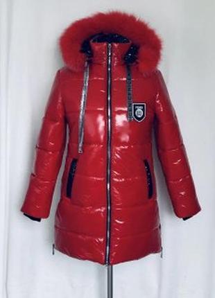 Зимова курточка палььо для дівчинки