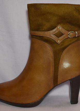 Р.41 caprice, германия,100%натуральная кожа! изысканные сапоги ботинки ботильоны