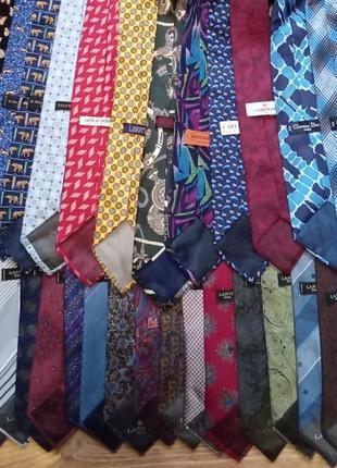 Большая коллекция  галстуков lanvin, cerruti, missoni, christian dior original italia