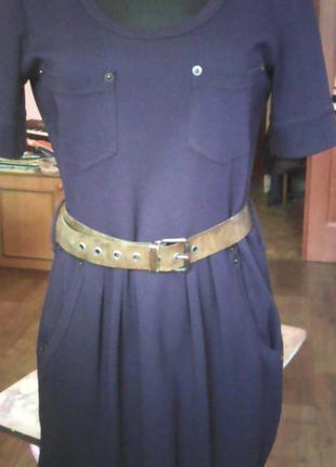Стильное платье р.38 французский трикотаж