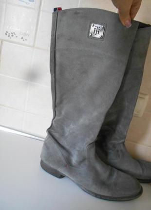 #распродажа#tommy hilfiger#высокие замшевые сапоги р.40 #