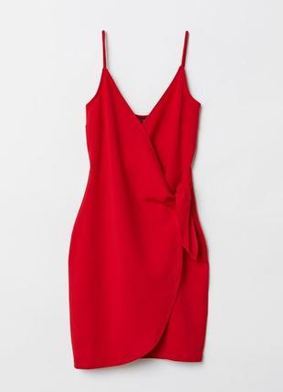 Красное платье на запах